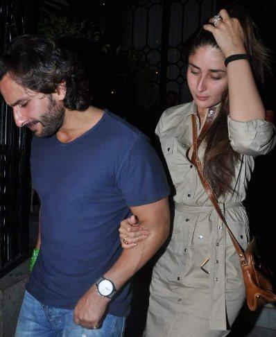 Saif and Kareena Snapped at Dewan's New Restaurant