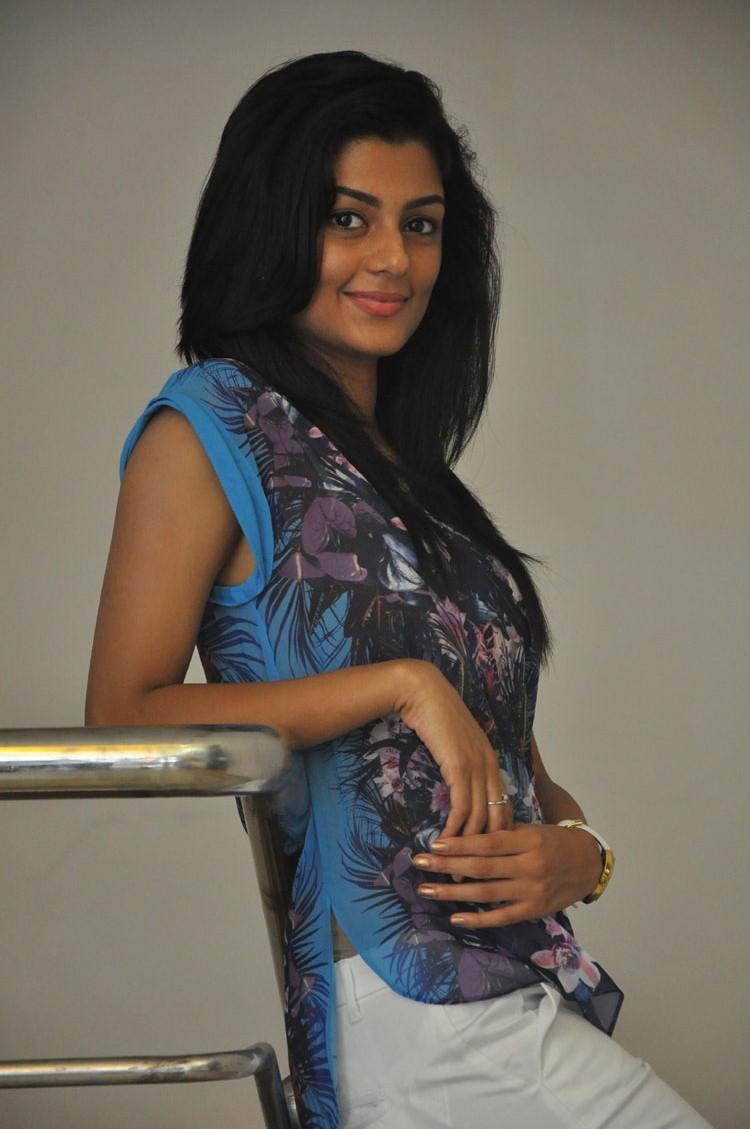 Anisha Ambrose Nice Pose To Photo Shoot At The Pressmeet Event Of Areyrey