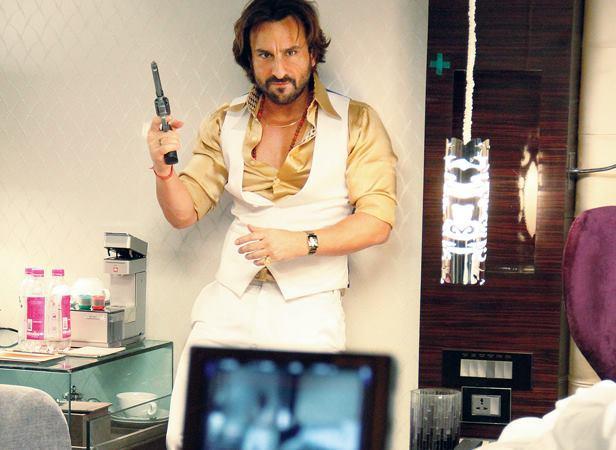 Saif Ali Khan Nice Look On The Sets Of Bullet Raja