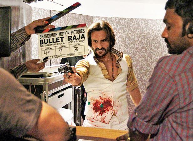 Saif Ali Khan Take A Shot On The Sets Of Bullet Raja