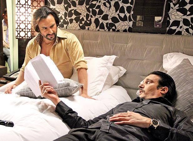 Saif And Jimmy On The Sets Of Bullet Raja