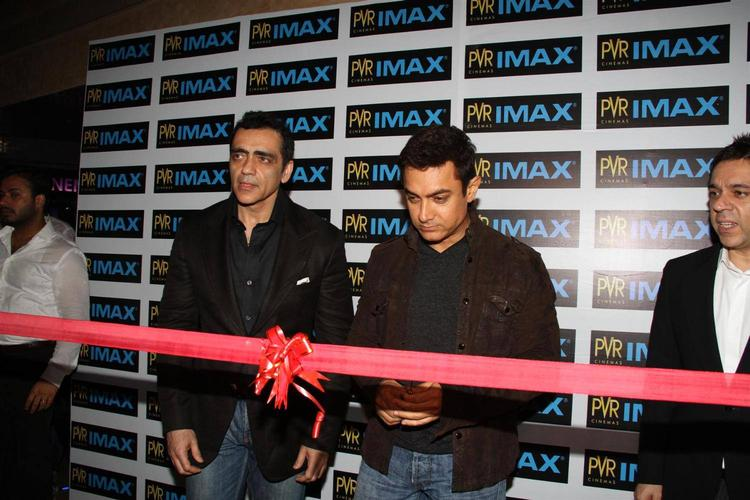 Aamir Khan Inaugurates PVR Imax Screen