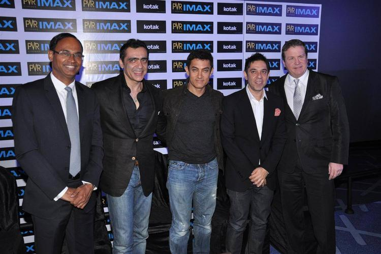 Aamir Khan Pose With Others At Launch Of New PVR IMAX Theatre
