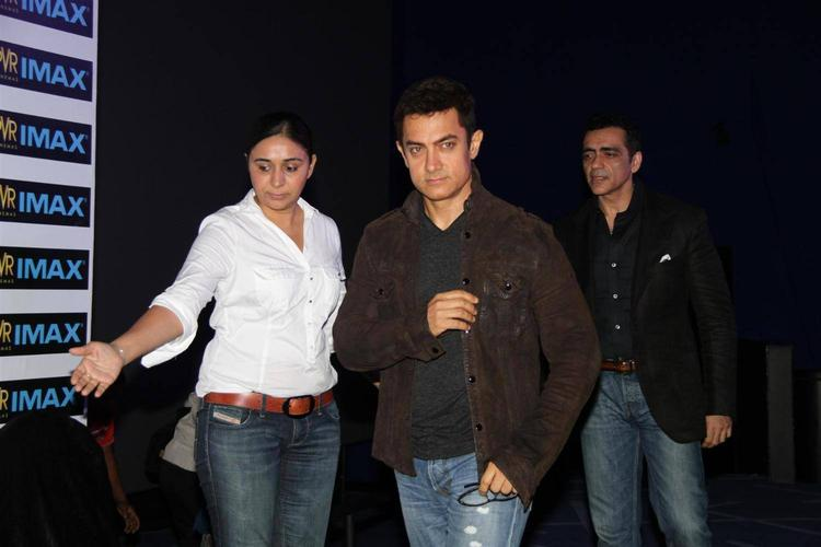 Aamir Khan Snapped To Inaugurates PVR's New IMAX Theatre