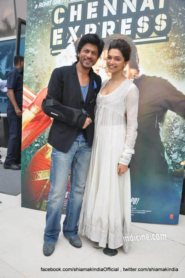 SRK And Deepika Unveiled The First Look Of Their Much Awaited Action Comedy Chennai Express
