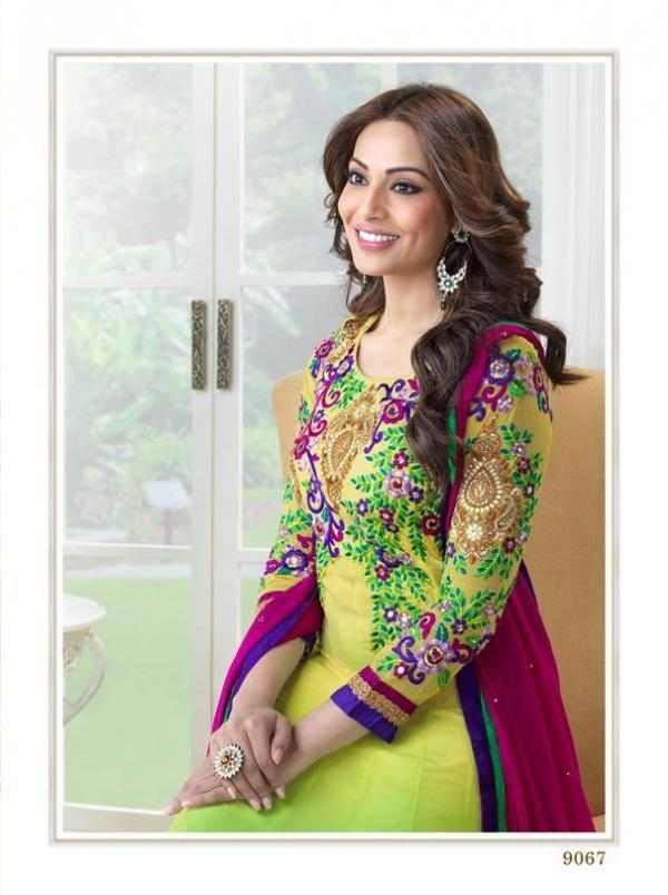 Bipasha Basu Sweet And Cool Look Photo Shoot In Multi Color Anarkali