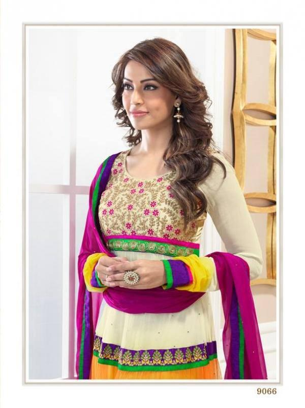 Bipasha Basu Wore A Multi Color Anarkali Suit For Photo Shoot