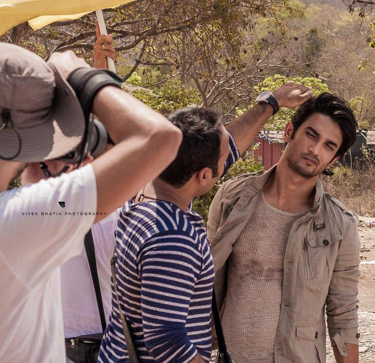 Sushant Singh Rajput Cool Pose On The Sets Of Filmfare Magazine Photo Shoot