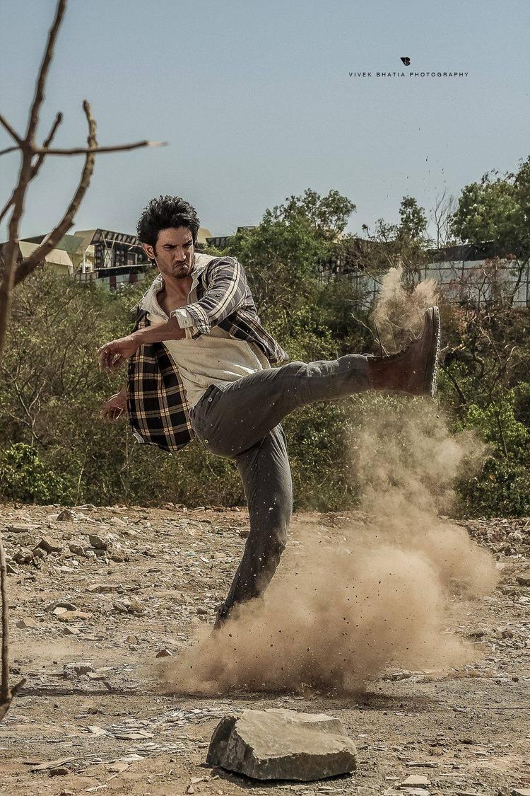 Sushant Singh Rajput Cool Rocking Pose On The Sets Of Filmfare Magazine Photo Shoot