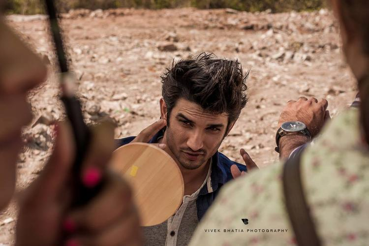 Sushant Singh Rajput Take Make Up On The Sets Of Filmfare Magazine Photo Shoot