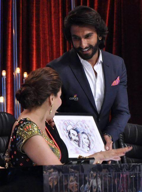 Madhuri And Ranveer Cool Look On The Sets Of Jhalak Dikhla Jaa Season 6