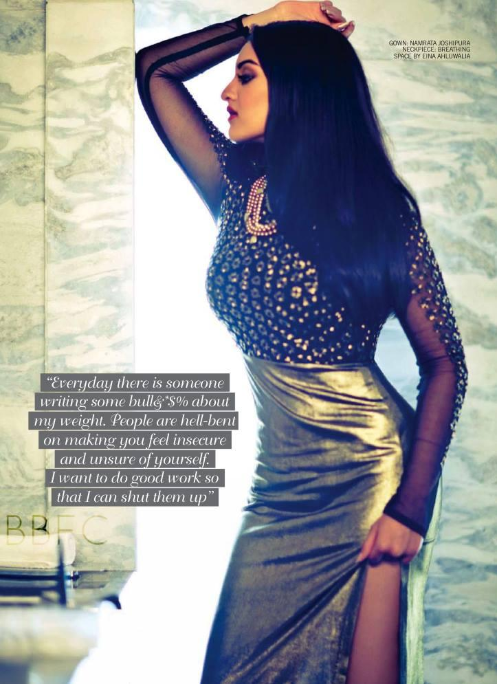 Sonakshi Sinha Awesome Hot Photo Shoot For Filmfare Magazine July 2013