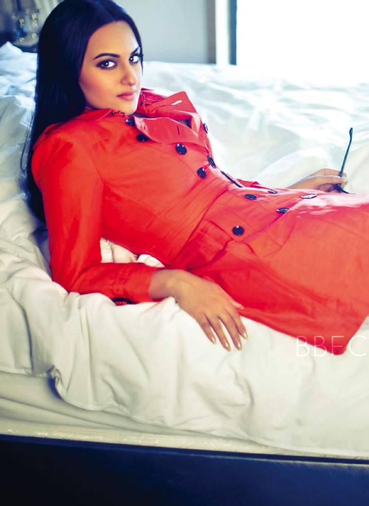 Sonakshi Sinha In Red Hot Look Photo Shoot For Filmfare Magazine July 2013