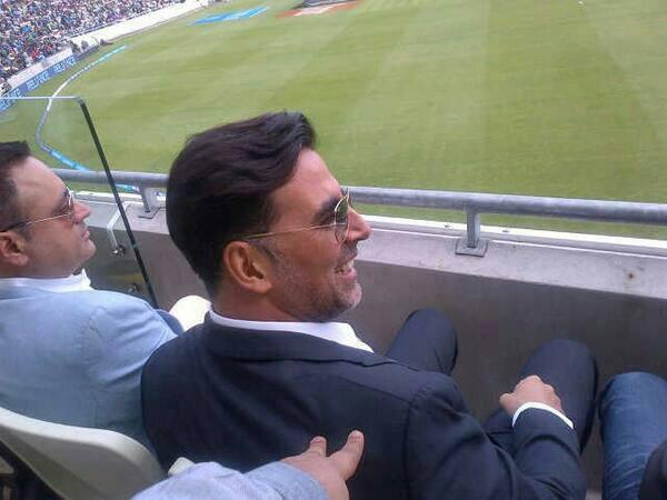 Akshay Kumar During The ICC Champions Trophy India Vs Pakistan Match