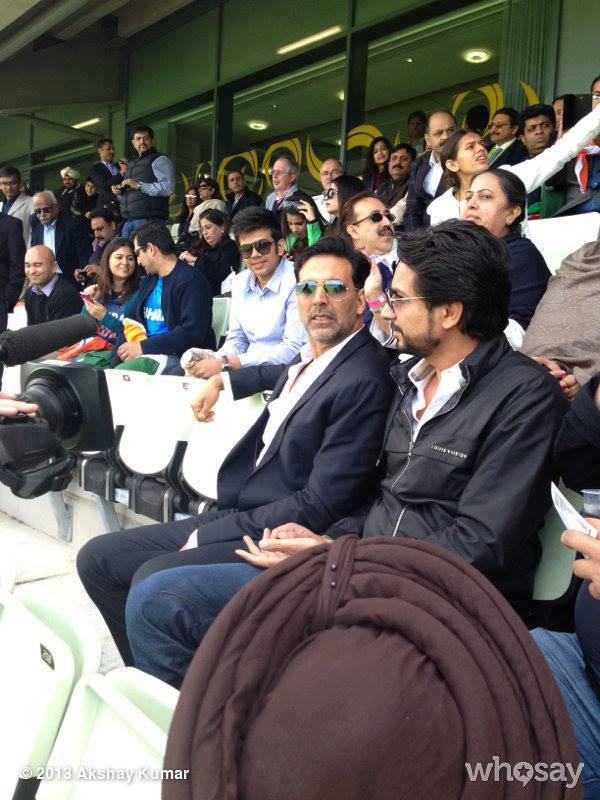Akshay Kumar At The ICC Champions Trophy India Vs Pakistan