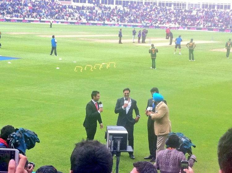 Akshay Kumar Media Still At The ICC Champions Trophy India Vs Pakistan Match