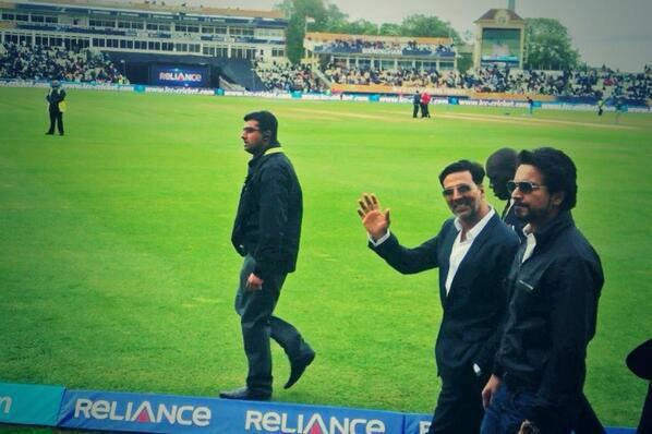 Akshay Kumar Spotted At The ICC Champions Trophy India Vs Pakistan