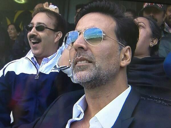 Akshay Kumar Spotted To See The ICC Champions Trophy India Vs Pakistan Match