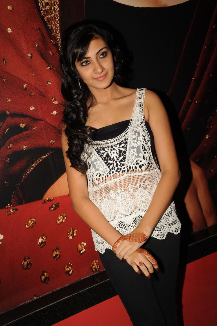 Neelam Upadhyaya Clicked During The Action 3D Movie Songs Projection Press Meet