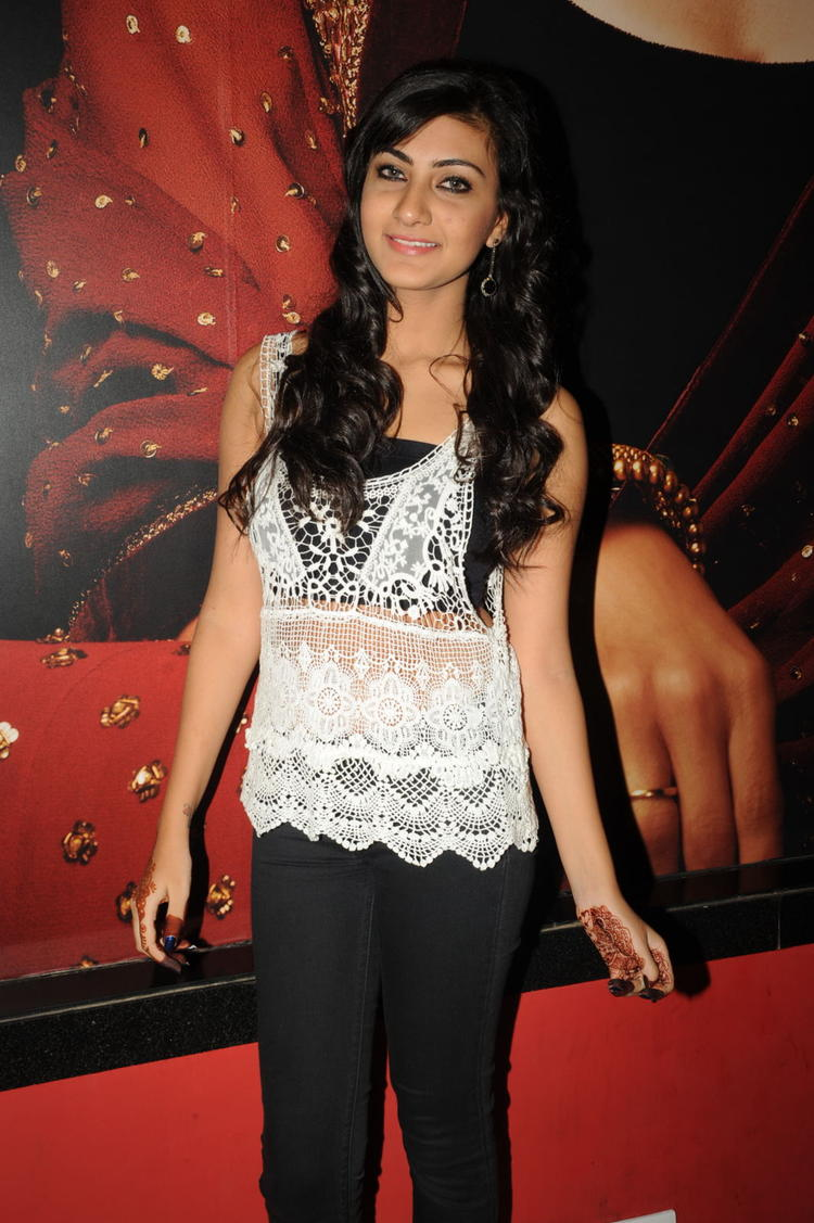 Neelam Upadhyaya Nice Look During The Action 3D Movie Songs Projection Press Meet
