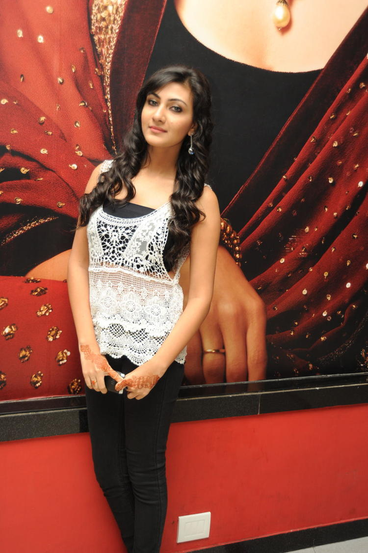 Neelam Upadhyaya Strikes A Pose At Action 3D Movie Songs Projection Press Meet