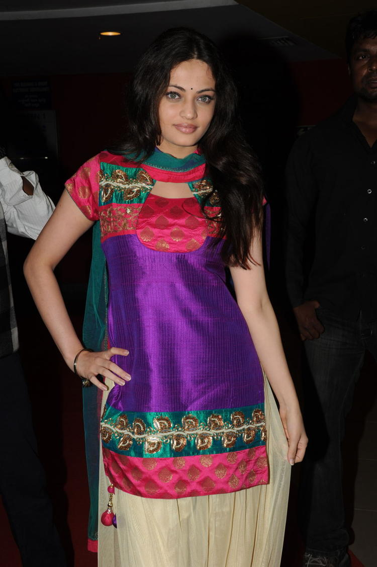 Sneha Ullal Clicked At Action 3D Movie Premiere Show