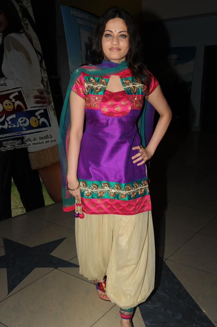 Sneha Ullal Posed During The Action 3D Movie Premiere Show