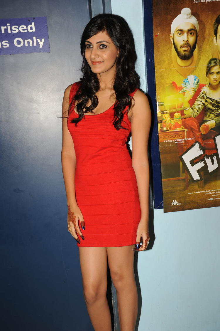 Neelam Upadhyay Trendy Look At Action 3D Movie Premiere Show