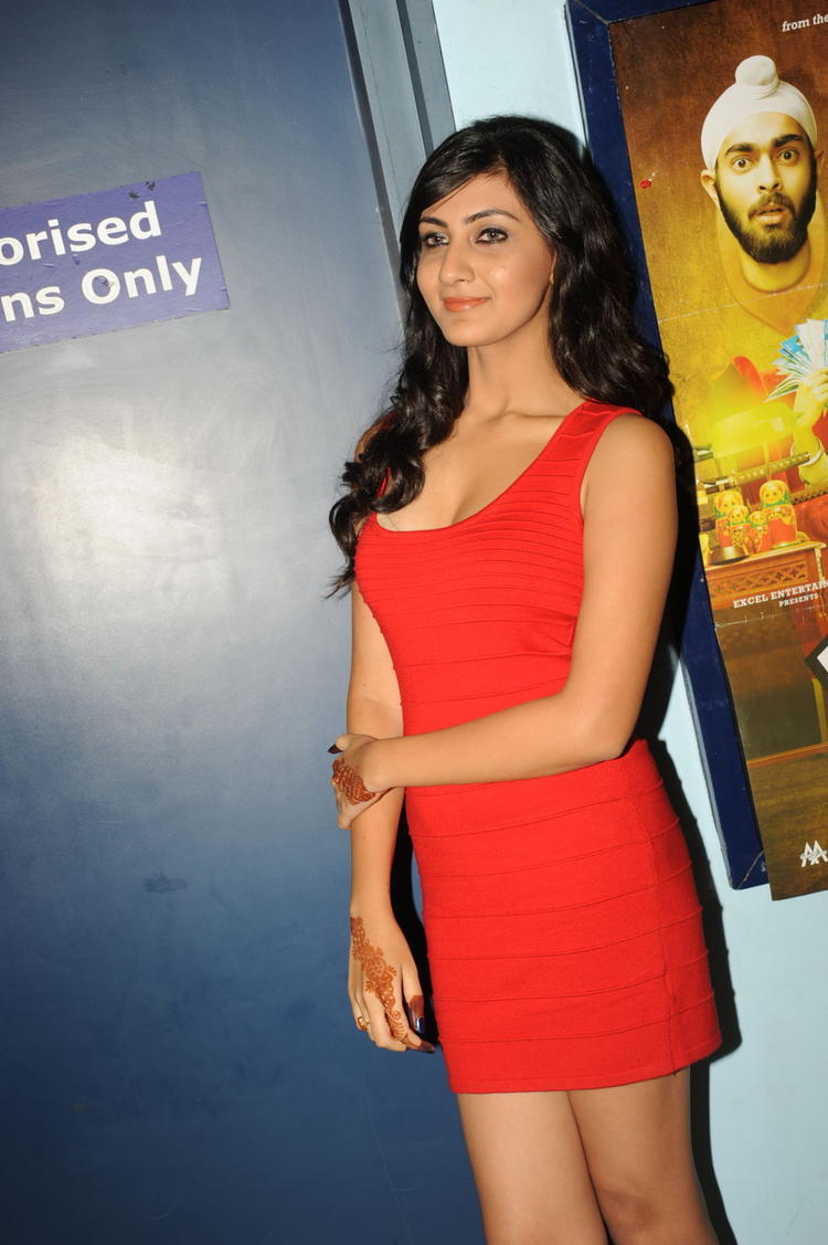 Neelam Upadhyay In Red Dress Ravishing Look At Action 3D Premiere Show Function