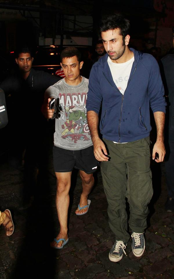 Aamir And Ranbir Attend The Screening Of Ship Of Theseus