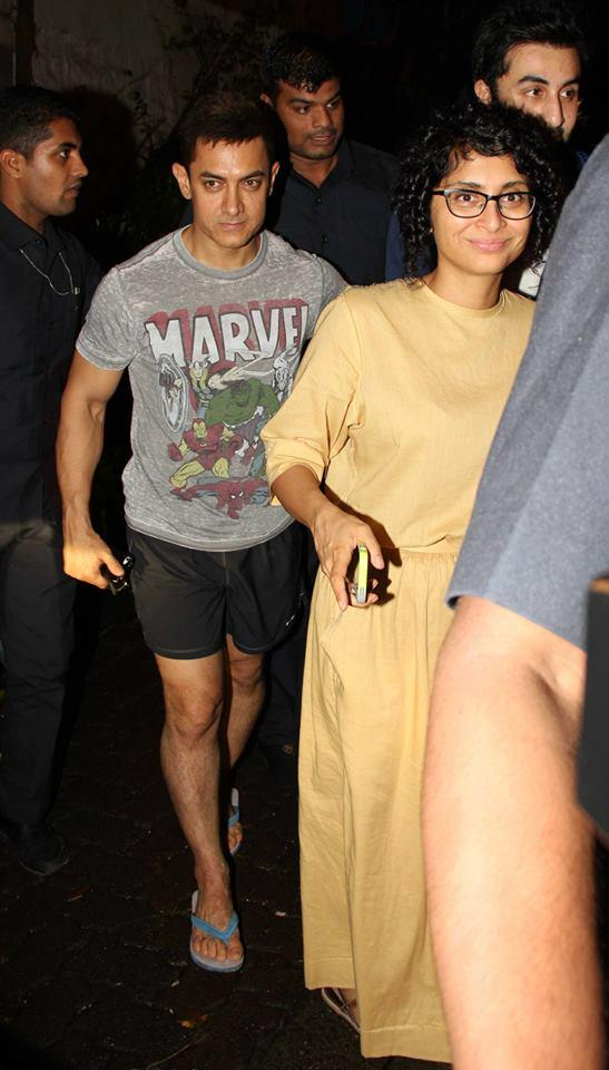Aamir With Wife Kiron At Ship Of Theseus Screening