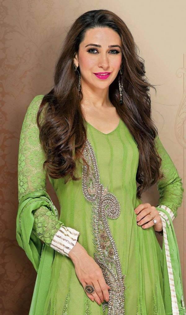 Karisma Looks Amazing In This Green Salwar Kameez