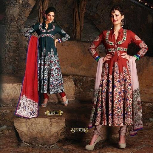 Evelyn Sharma Strikes Pose In Anarkali Suit For An Indian Designer Wear