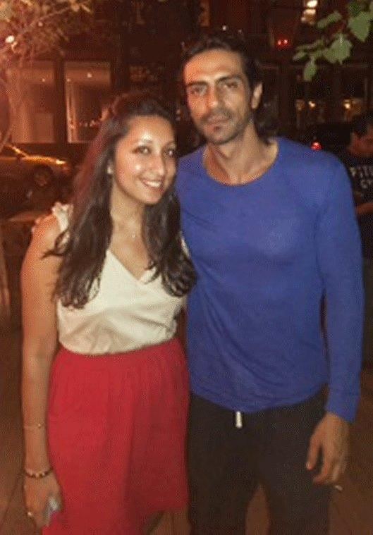 Sajni And Arjun Rampal Pose For Photo Shoot At The Mondrian Hotel