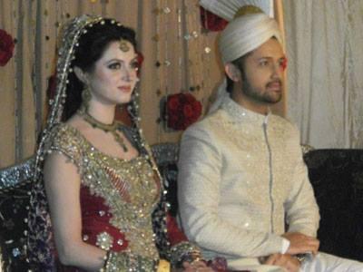 Atif And Sara Dazzling Stunning Look At Their Wedding Reception