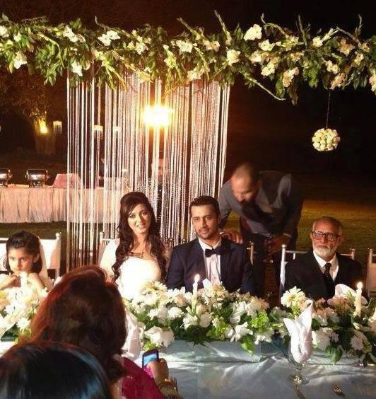 Atif And Sara Surrounded By Family Members At Their Wedding Ceremony