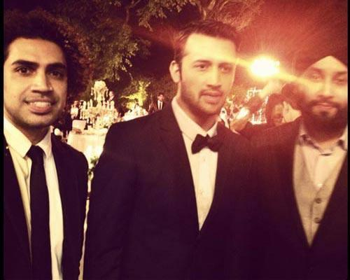 Atif Aslam Posed With Friends At His Wedding Reception