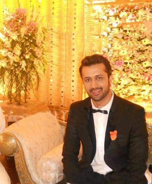 Atif Aslam Smiling Posed for Camera At His Wedding Reception