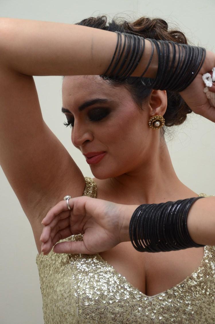Shweta Bhardwaj Nice Dance Pose Still At Adda Movie Audio Release Function