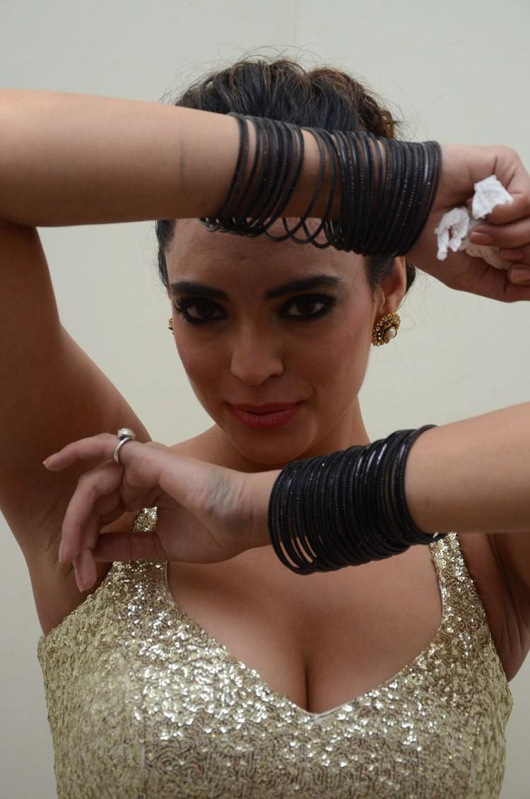 Shweta Bhardwaj Sexy Pose Still At Adda Movie Audio Release Function