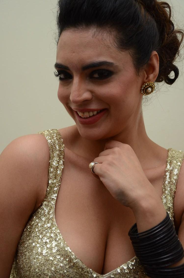 Shweta Bhardwaj Smiling Look At Adda Movie Audio Release Function