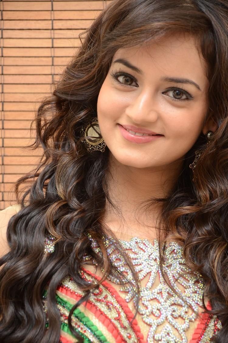 Shanvi Cute Face Look Attractive Still At Adda Movie Audio Release Function