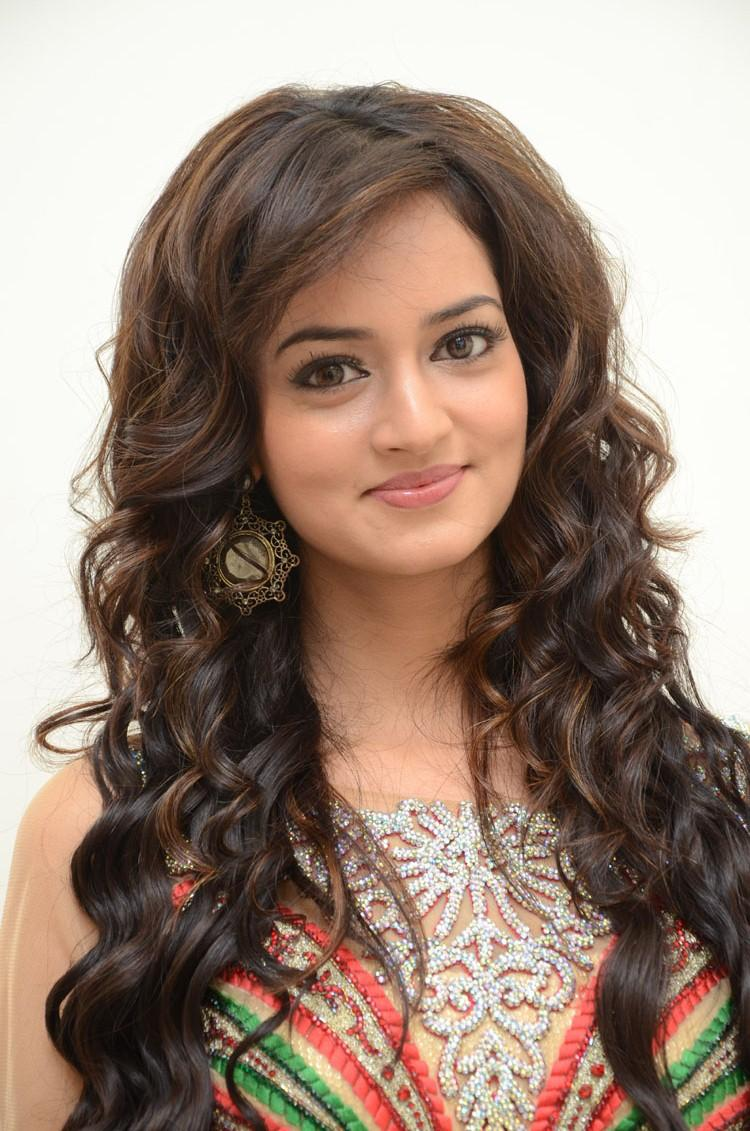 Shanvi Flaunt Hair Style Beautiful Look Still At Adda Movie Audio Release Function