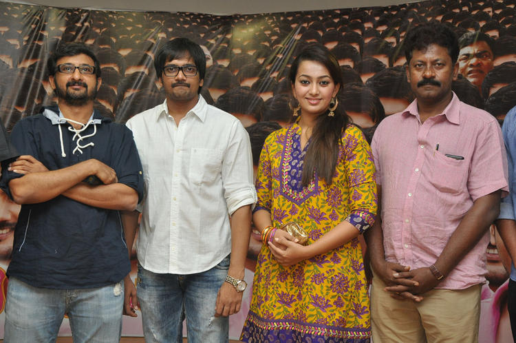 Sairam,Ester And Teja Pose For Photo At 1000 Abaddalu Press Meet Event