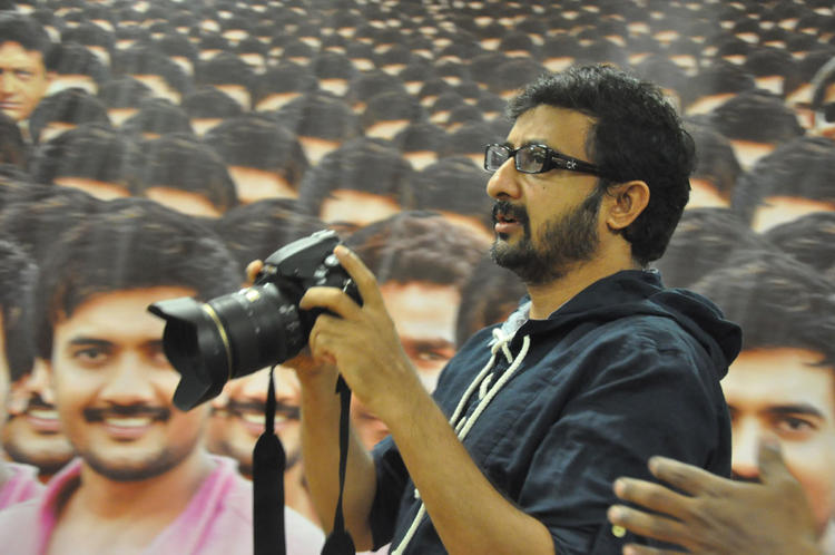 Teja With Camera At 1000 Abaddalu Press Meet Event