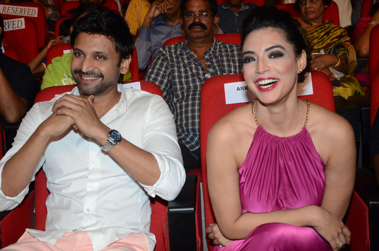 Sumanth And Swetha Open Smile Pic During Adda Movie Audio Launch Function