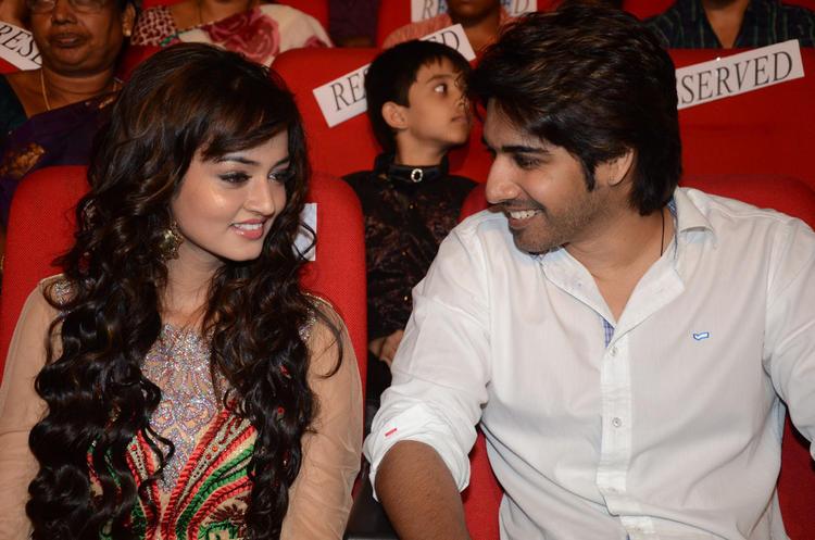 Sushanth And Shanvi Pic At Adda Movie Audio Launch
