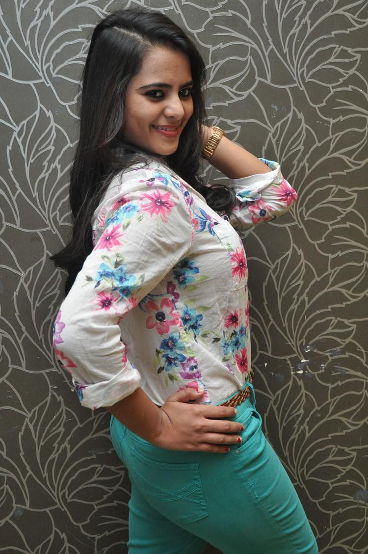 Manasa Cute Sexy Pose Photo Shoot At Romance Movie Press Meet
