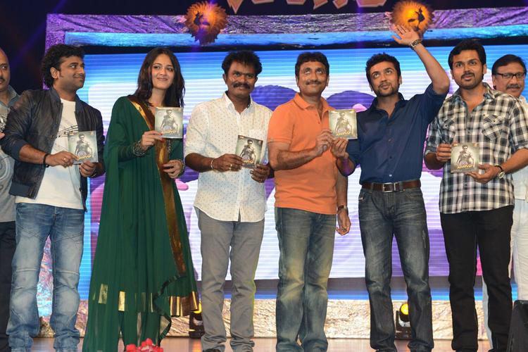 Devi Sri Prasad,Anushka,Srinu,Suriya And Karthi Graced At Singam II Audio Release Function