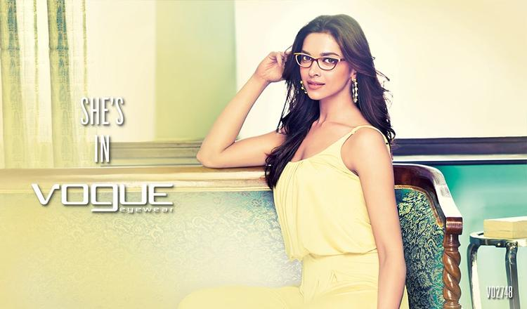 Pretty Deepika Padukone Cool Pic  On The Cover Of Vogue Eyewear
